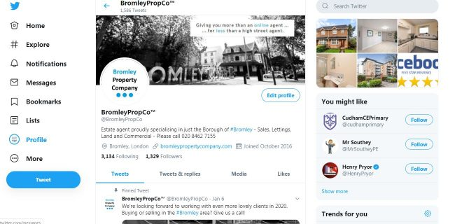 Bromley Property Company Twitter