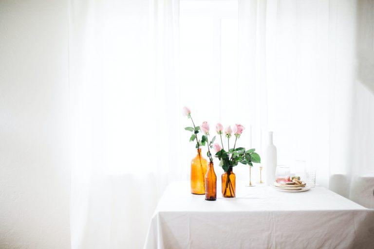 bright room vase on table