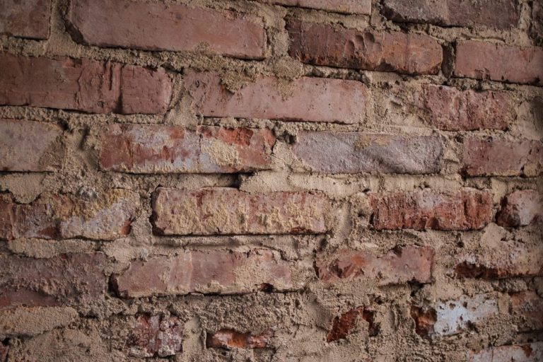 wall with subsidence